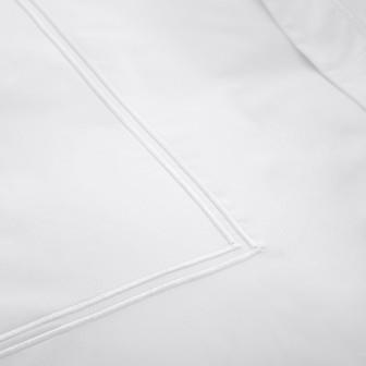 Miss Lyn Double Satin Duvet Covers White 200 Thread Count, 100% Cotton Percale