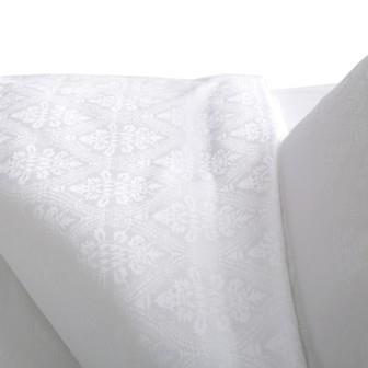 Miss Lyn Germain Duvet Covers White 300 Thread Count, 100% Cotton Jacquard