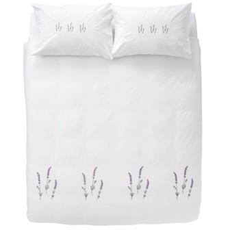 Miss Lyn Lavender Duvet Covers White 200 Thread Count, 100% Cotton Percale