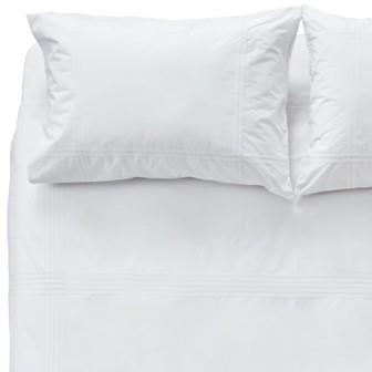 Miss Lyn Pin Tucks Duvet Covers White 200 Thread Count, 100% Cotton Percale