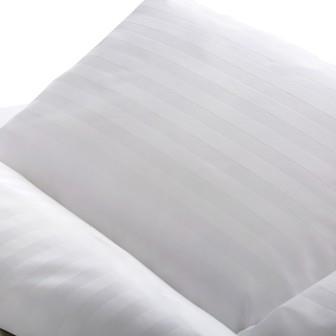Miss Lyn Sateen Stripe Duvet Covers White 250 Thread Count, 100% Cotton Sateen