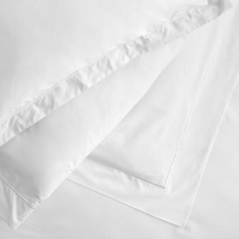 Miss Lyn Satin Oxford Duvet Covers White 200 Thread Count, 100% Cotton Percale