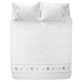 Miss Lyn Sea Breeze Duvet Covers White 200 Thread Count, 100% Cotton Percale