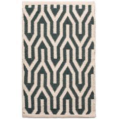 Miss Lyn Nazca Handwoven 60x80cm Rugs Dark Green 100% Cotton