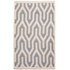 Miss Lyn Nazca Handwoven 60x80cm Rugs Light Grey 100% Cotton