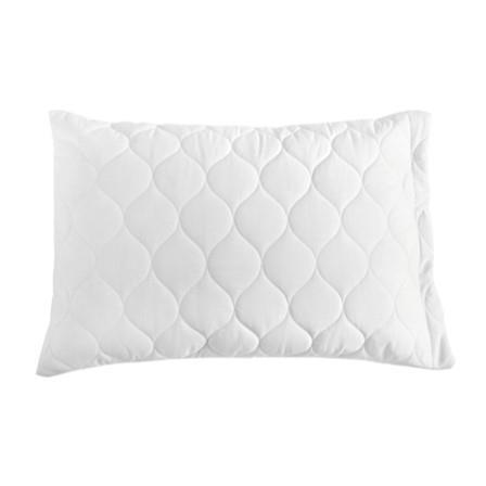 Miss Lyn Quilted Pillow Protectors White 200 Thread Count, 100% Cotton Percale