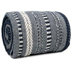 Miss Lyn Braided Throws Navy Blue 100% Cotton