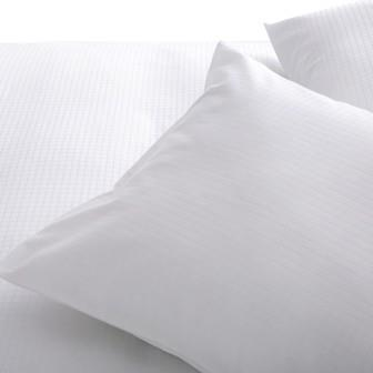 Miss Lyn Check Duvet Covers White 250 Thread Count, 100% Cotton Sateen