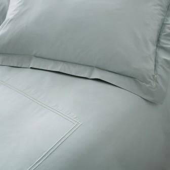 Miss Lyn Double Satin Duvet Covers Duck Egg 200 Thread Count, 100% Cotton Percale
