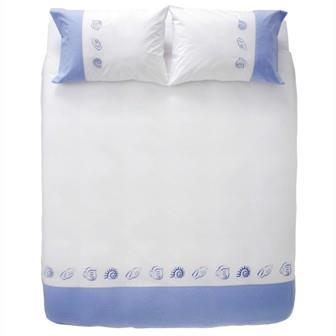 Miss Lyn Sea Life Duvet Covers White 200 Thread Count, 100% Cotton Percale