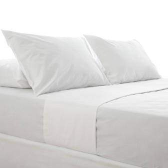 Miss Lyn Plain Flat Sheets White 200 Thread Count, 100% Cotton Percale