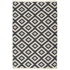Miss Lyn Diamond Handwoven 120x180cm Rugs Navy Blue 100% Cotton