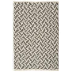 Miss Lyn Interlock Handwoven 120x180cm Rugs Dark Grey 100% Cotton