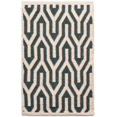 Miss Lyn Nazca Handwoven 60x80cm Rugs Dark Green 100% Cotton