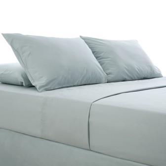 Miss Lyn Plain Pillowslips Duck Egg 200 Thread Count, 100% Cotton Percale