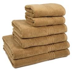 Miss Lyn Miss Lyn Hotel Collection Towels Light Brown 100% Cotton